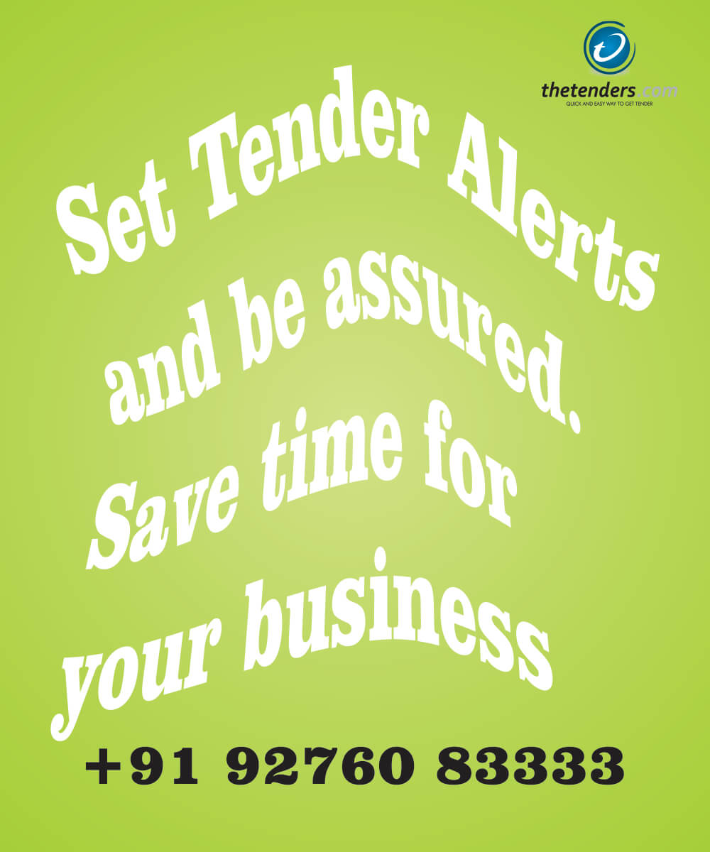 Register to get free tender alerts on daily basis